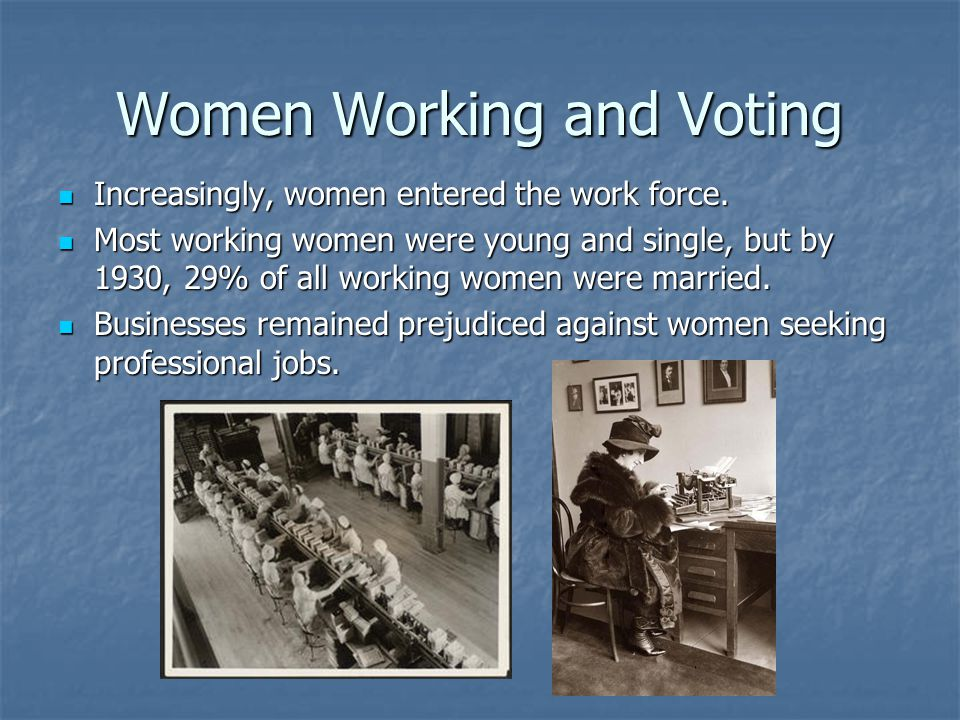 Women Working and Voting