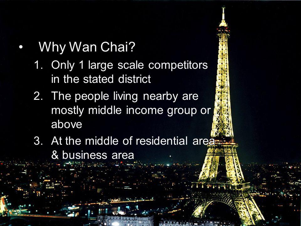 Why Wan Chai Only 1 large scale competitors in the stated district