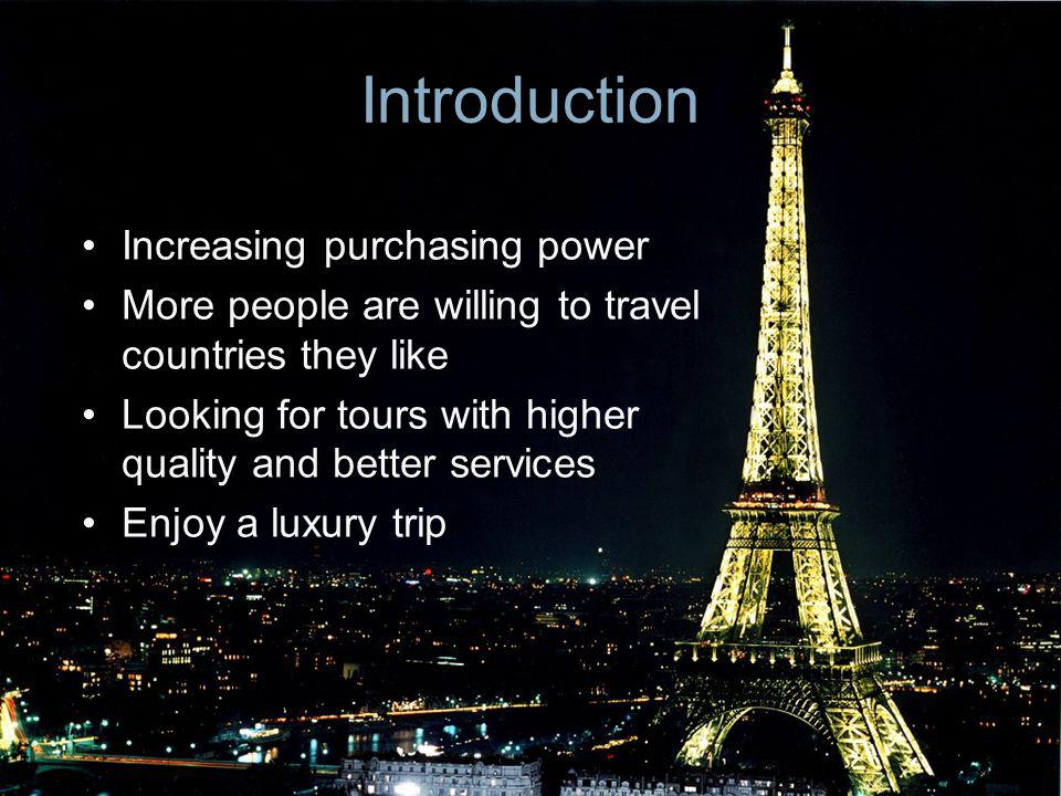 Introduction Increasing purchasing power