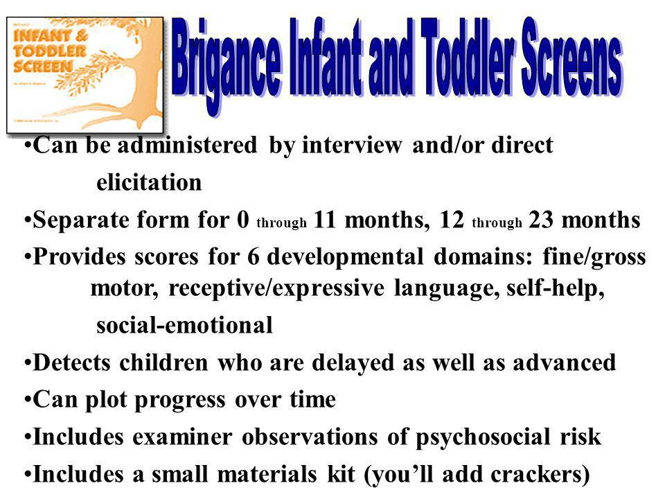 Brigance Infant and Toddler Screens