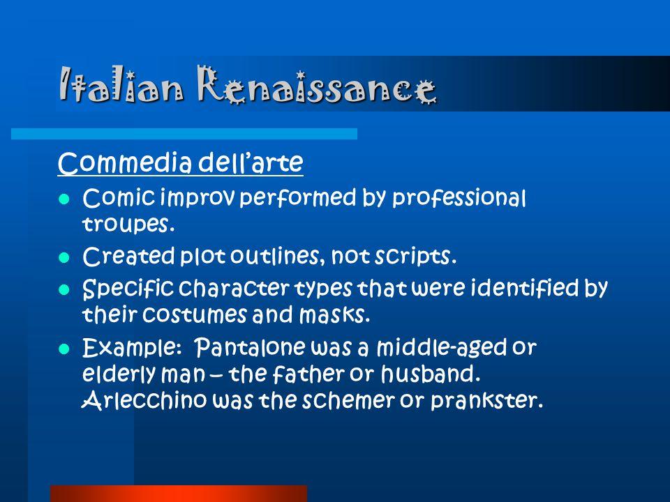 Italian Renaissance Commedia dell'arte