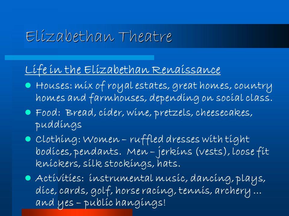 Elizabethan Theatre Life in the Elizabethan Renaissance