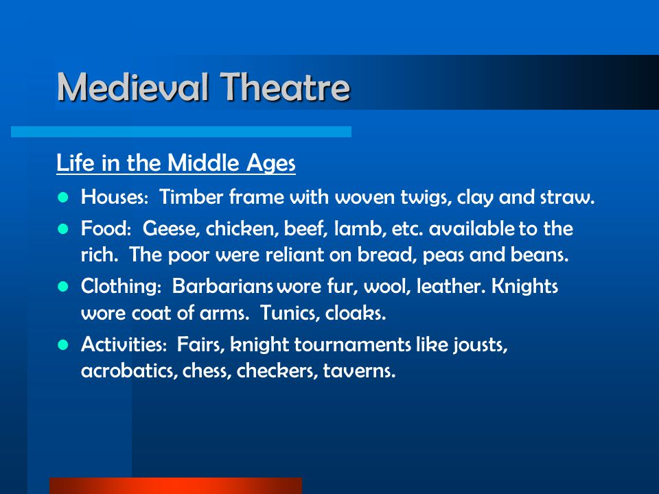 Medieval Theatre Life in the Middle Ages