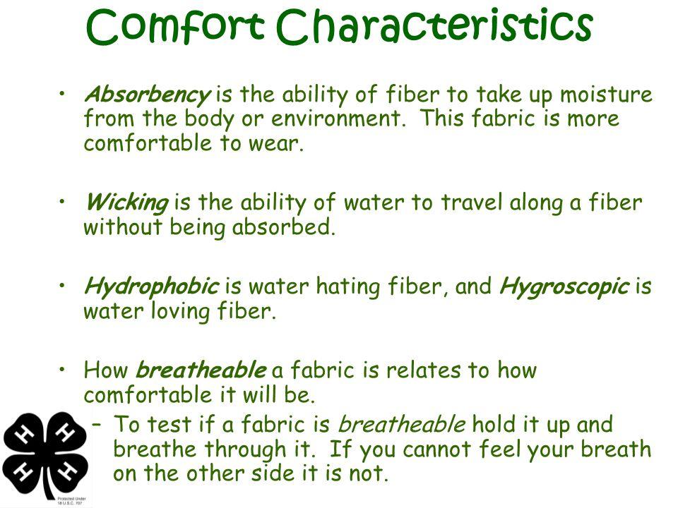 Comfort Characteristics