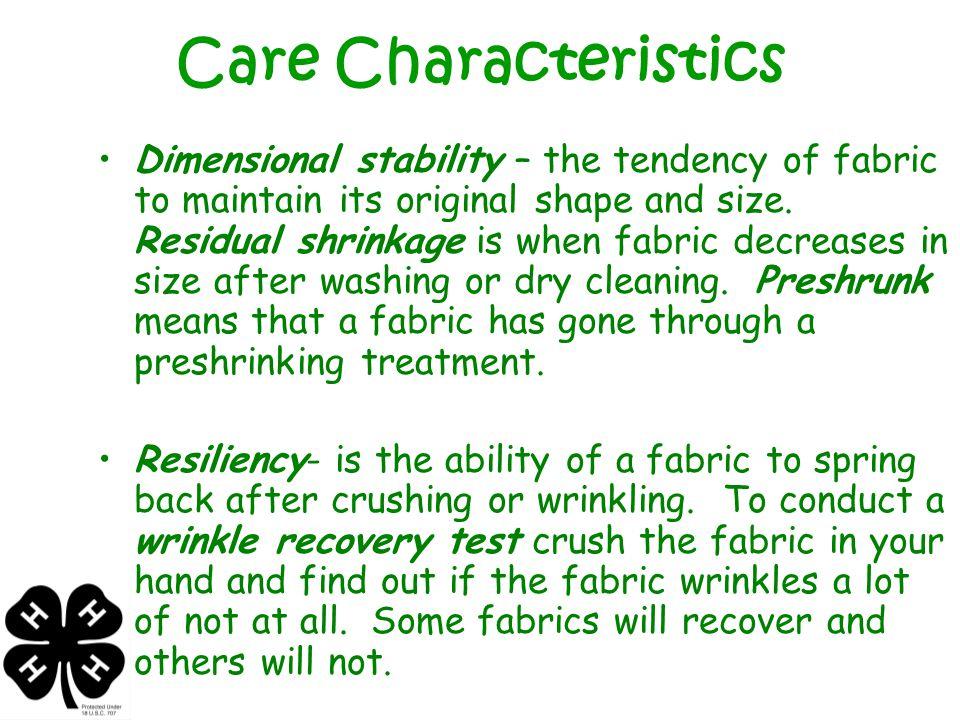 Care Characteristics