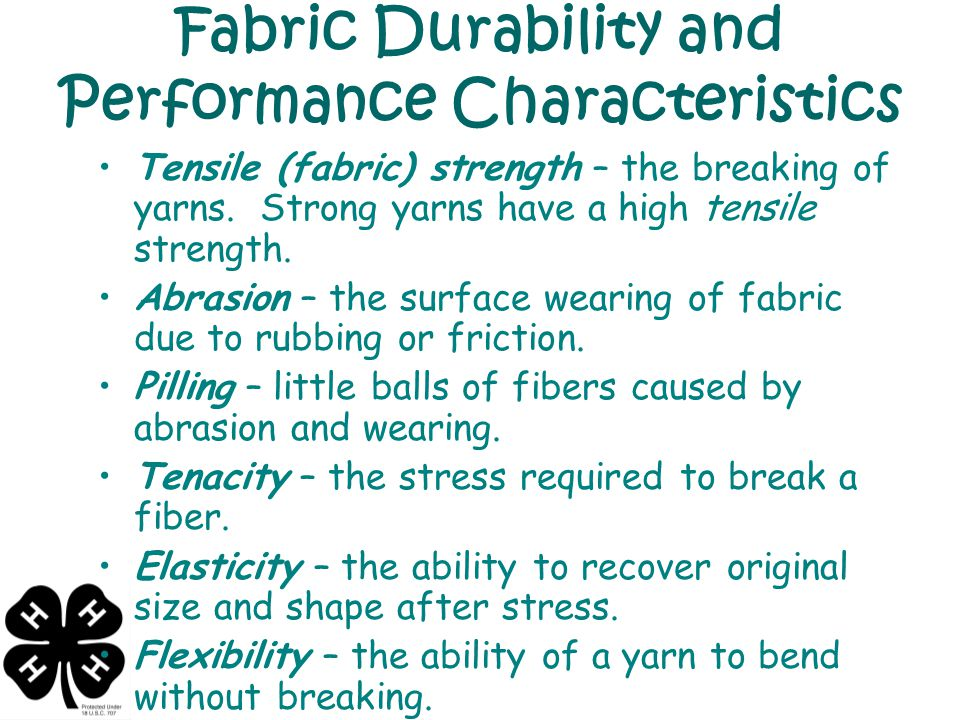 Fabric Durability and Performance Characteristics