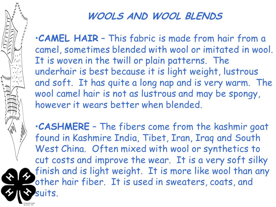 WOOLS AND WOOL BLENDS
