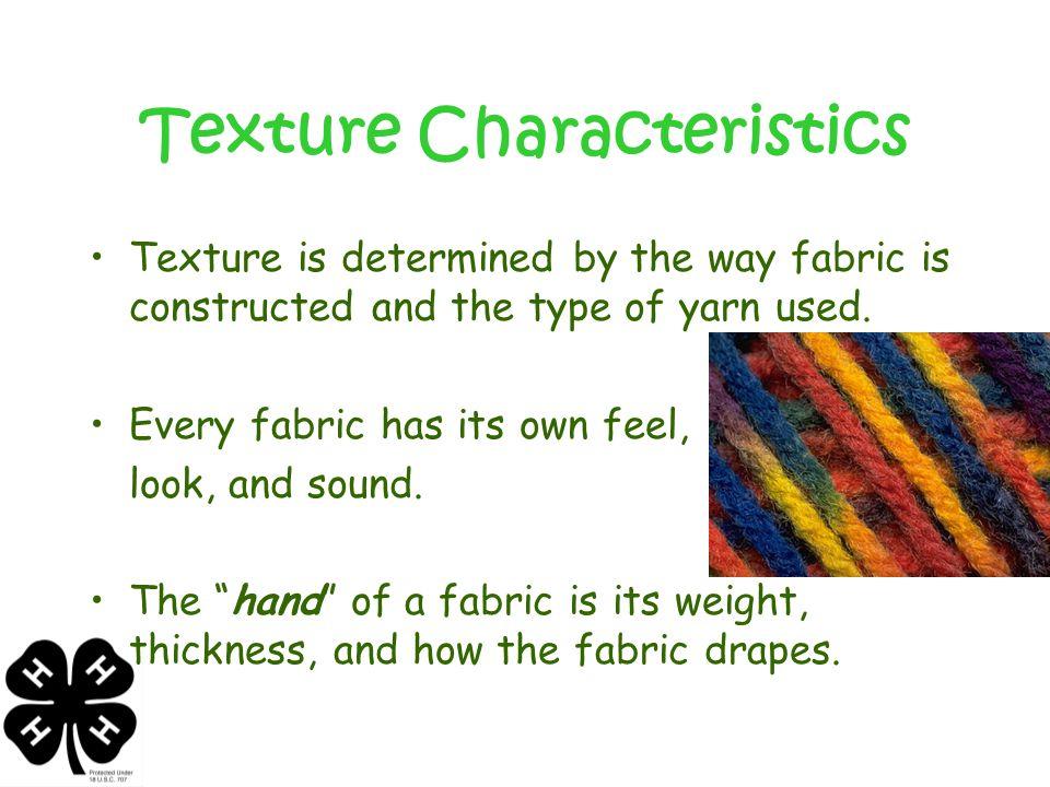 Texture Characteristics