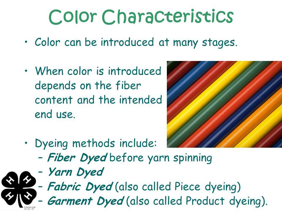 Color Characteristics