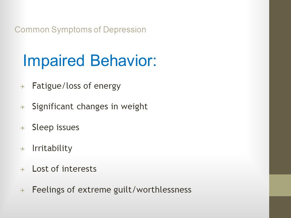 Common Symptoms of Depression