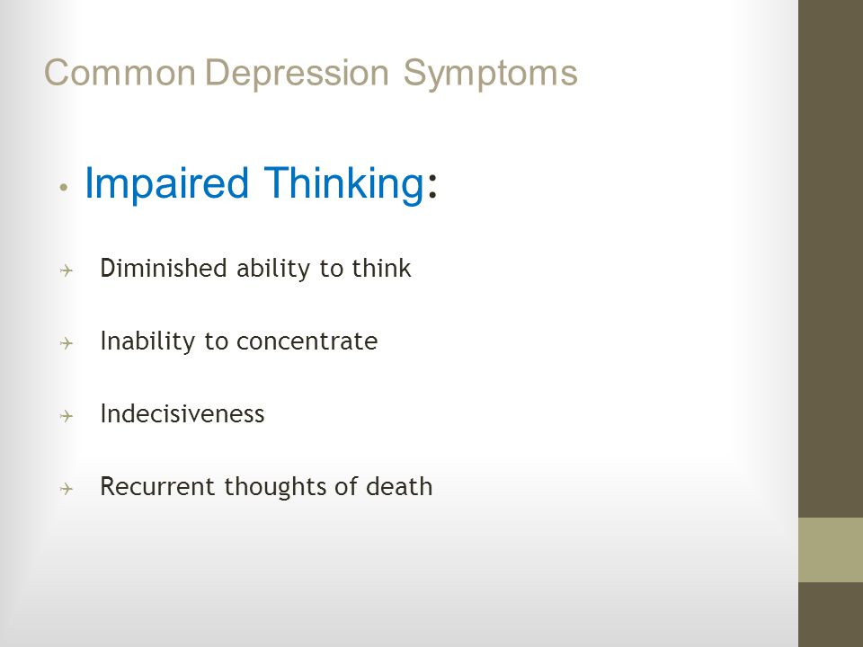 Common Depression Symptoms