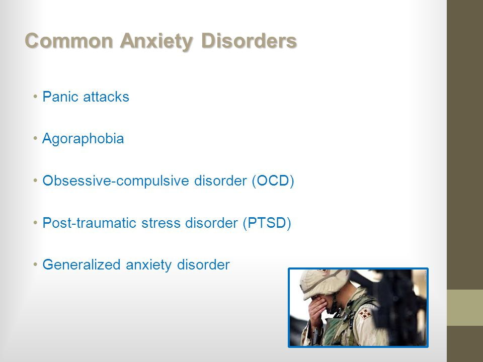 Common Anxiety Disorders