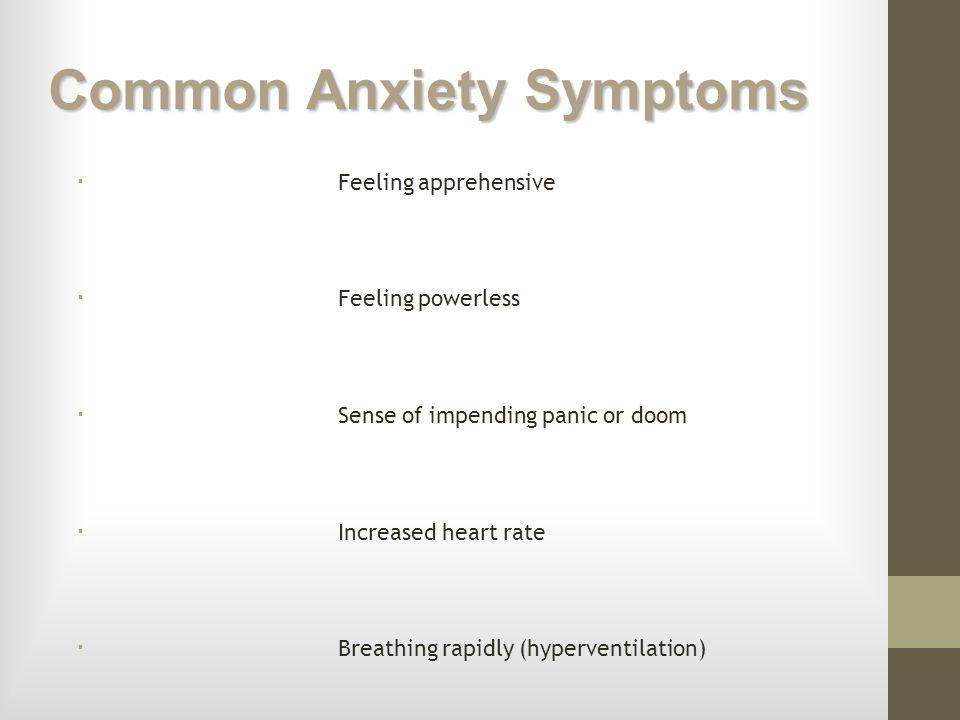 Common Anxiety Symptoms