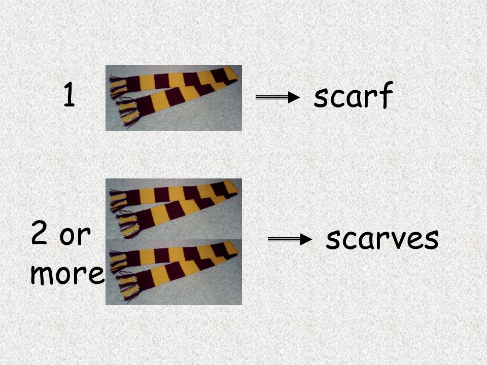 1 scarf 2 or more scarves