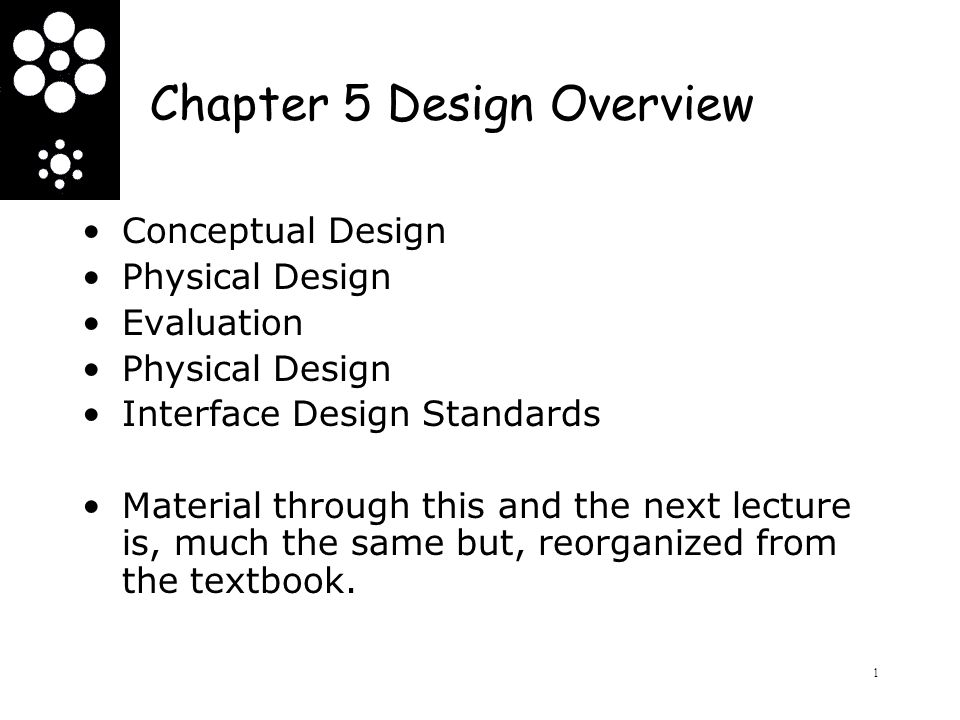 Chapter 5 Design Overview