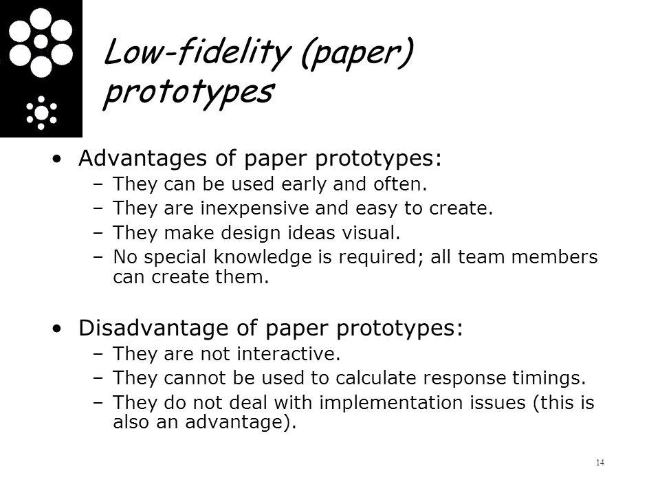 Low-fidelity (paper) prototypes