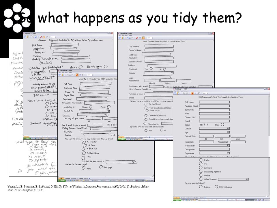 So what happens as you tidy them