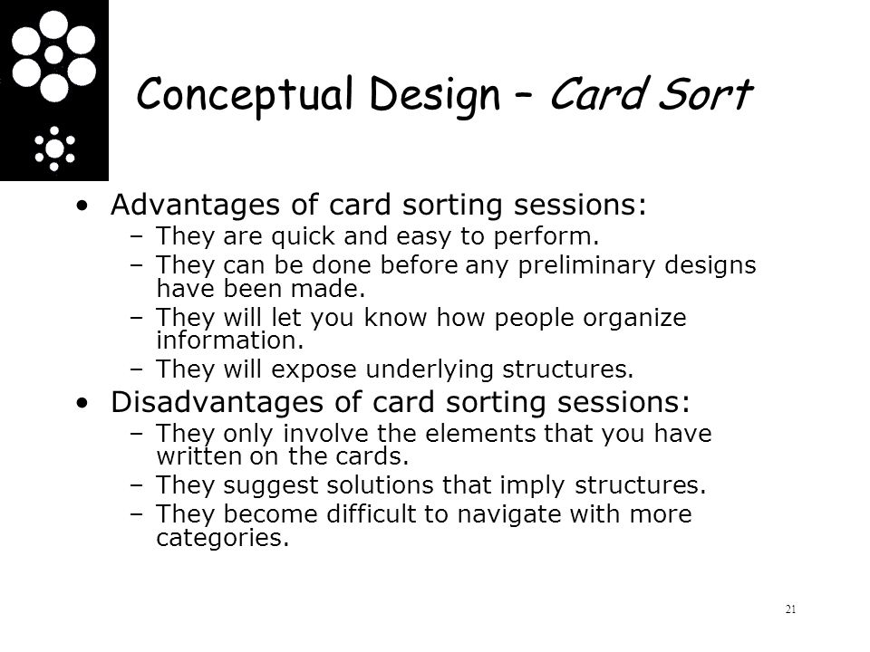 Conceptual Design – Card Sort