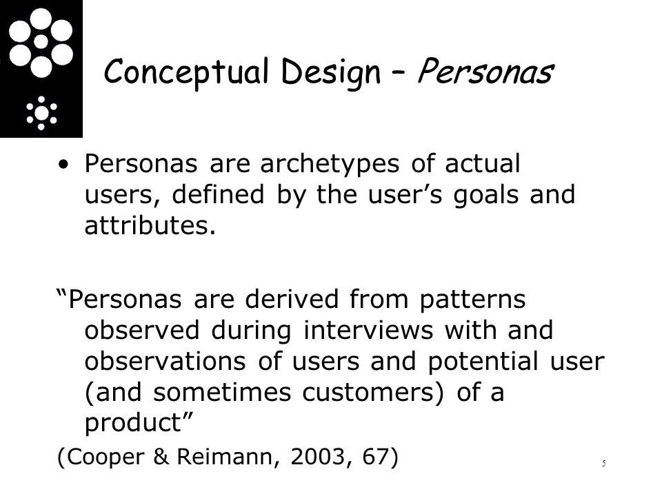 Conceptual Design – Personas