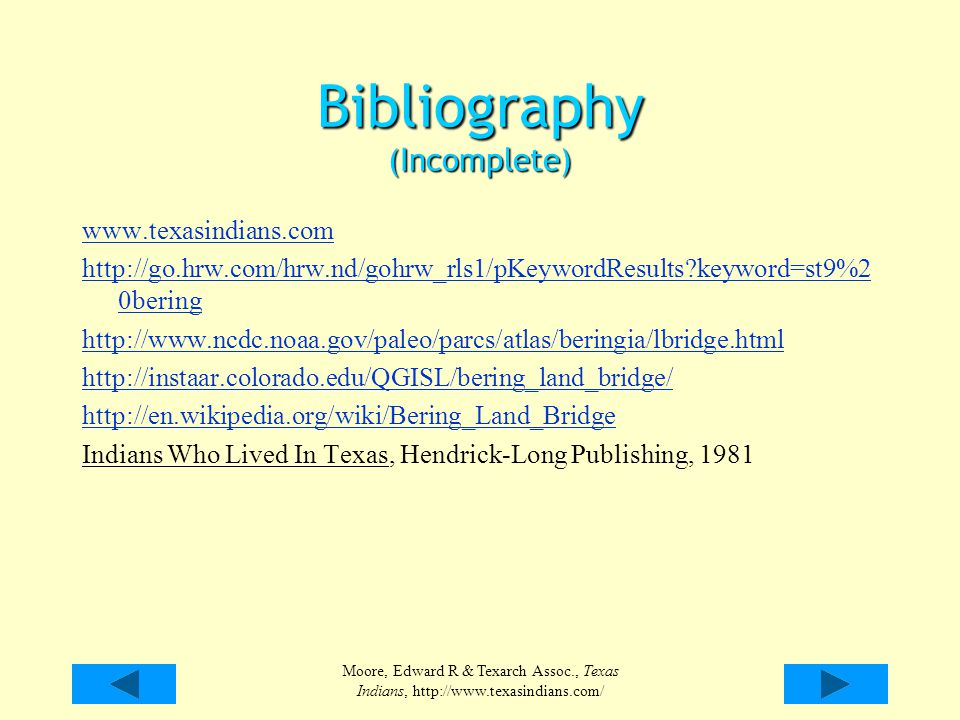 Bibliography (Incomplete)