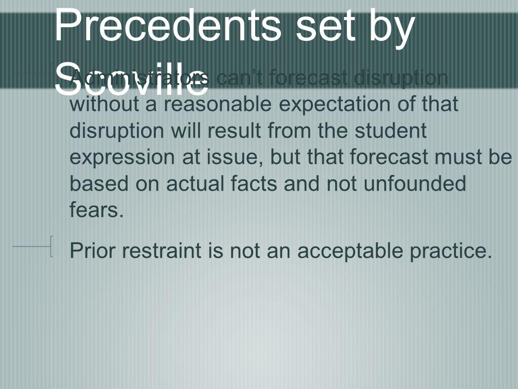 Precedents set by Scoville