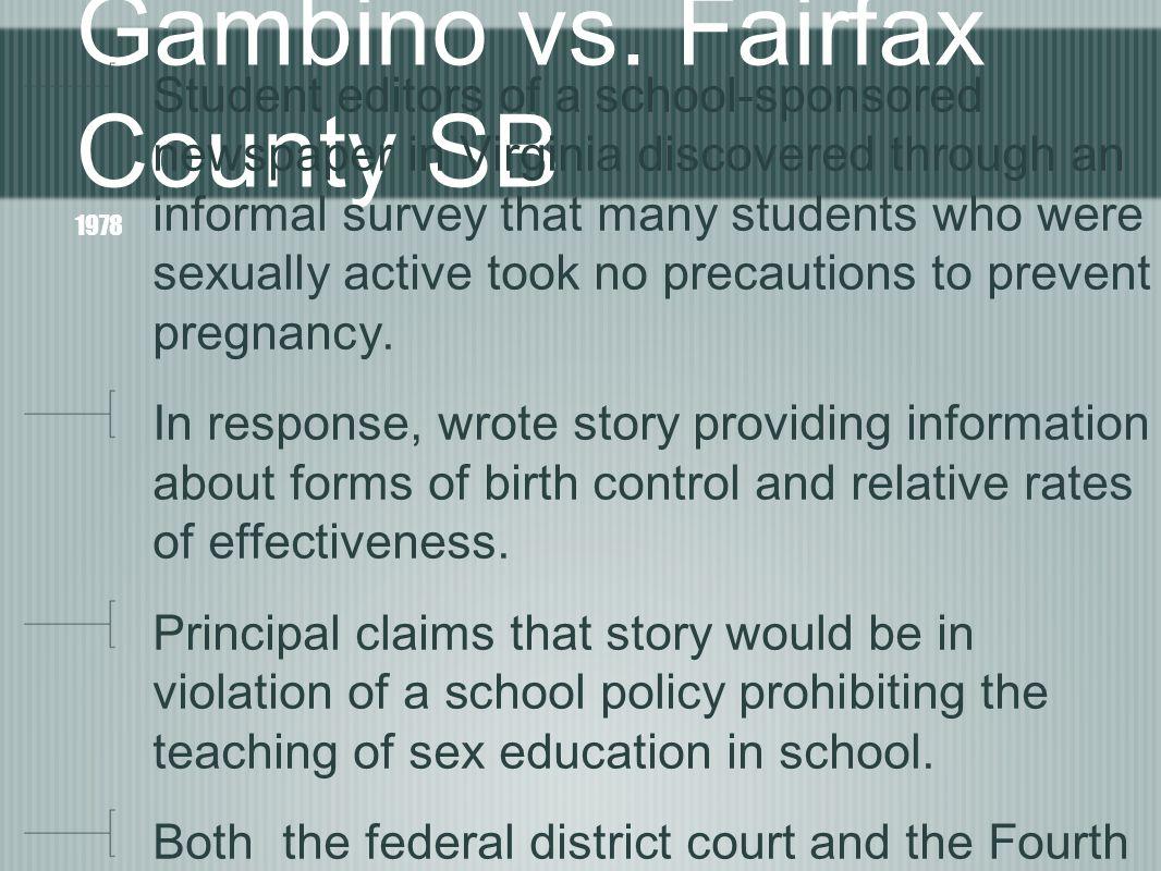 Gambino vs. Fairfax County SB 1978