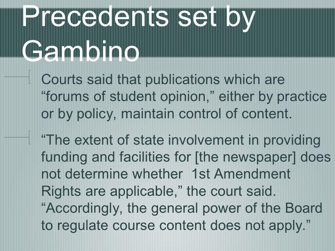 Precedents set by Gambino