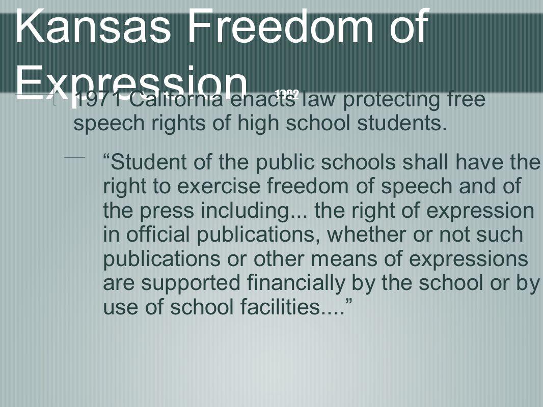 Kansas Freedom of Expression 1992