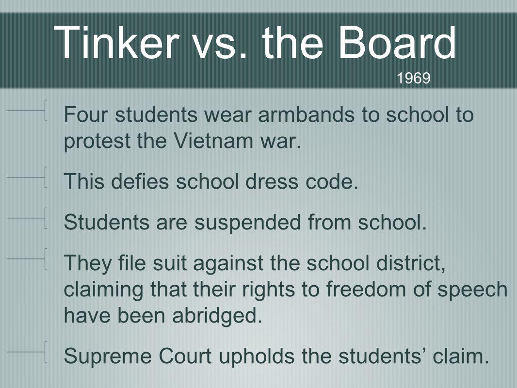 Tinker vs. the Board 1969