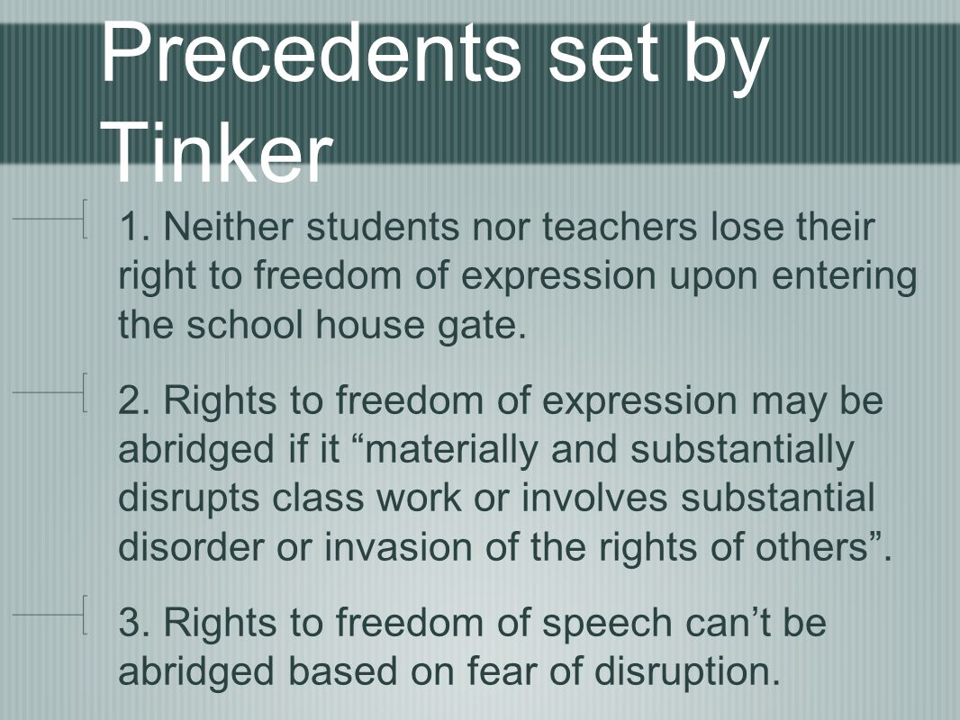 Precedents set by Tinker