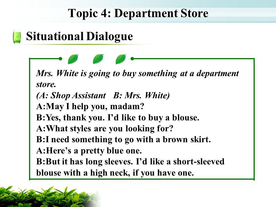 Topic 4: Department Store