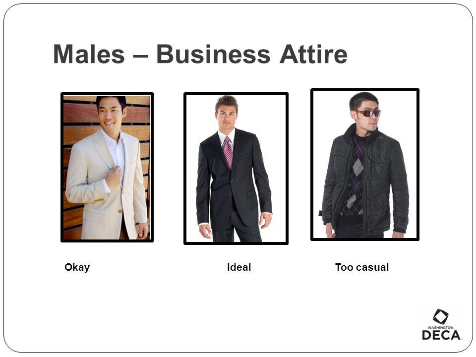 Males – Business Attire