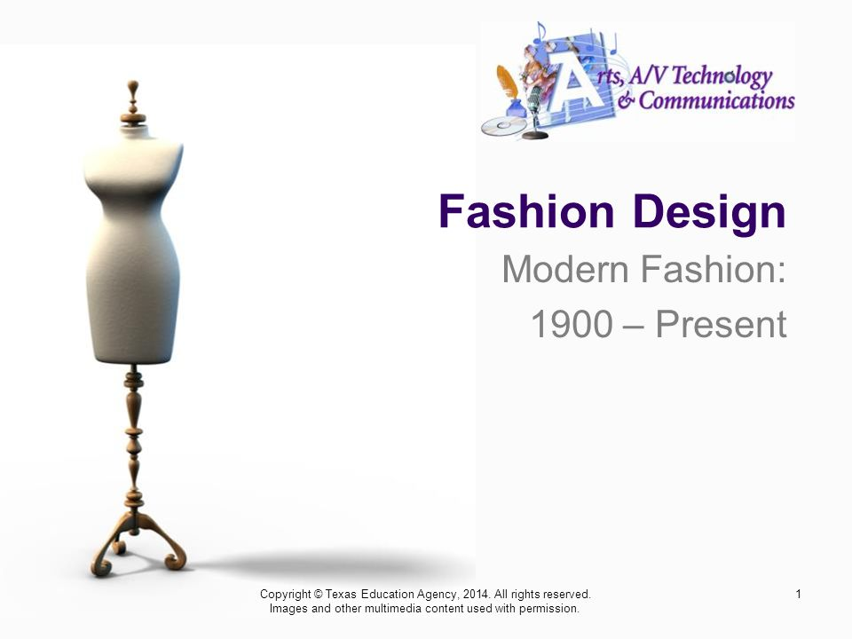 Modern Fashion: 1900 – Present