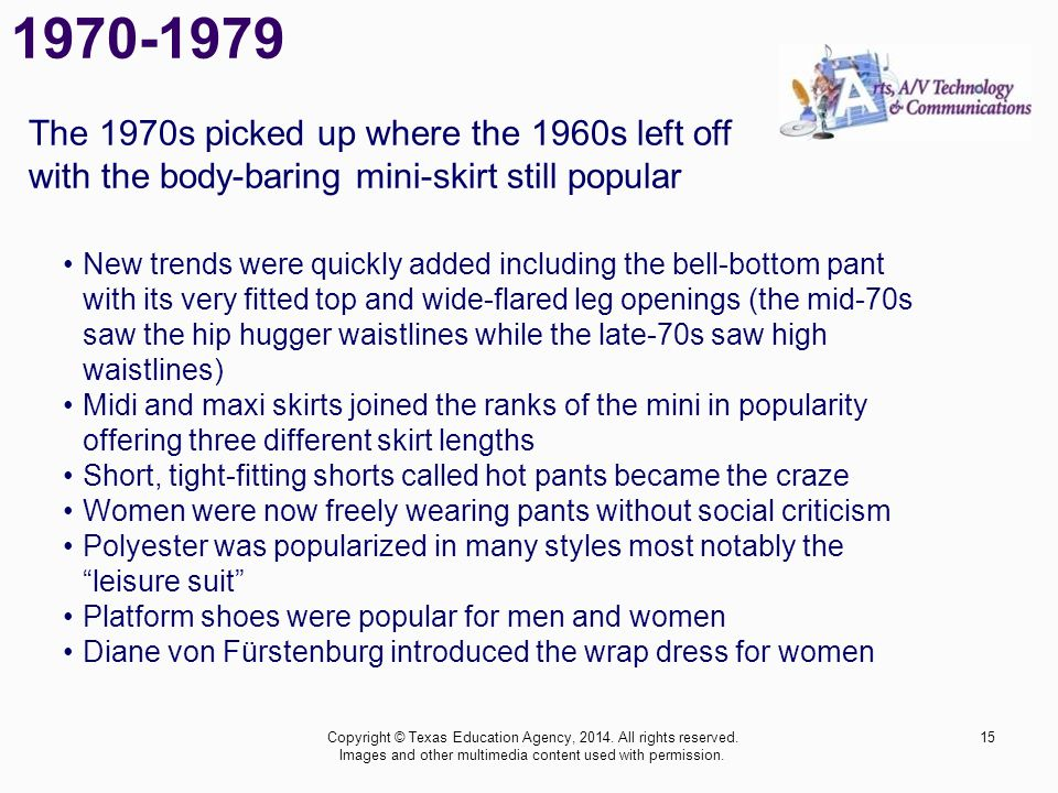 1970-1979 The 1970s picked up where the 1960s left off