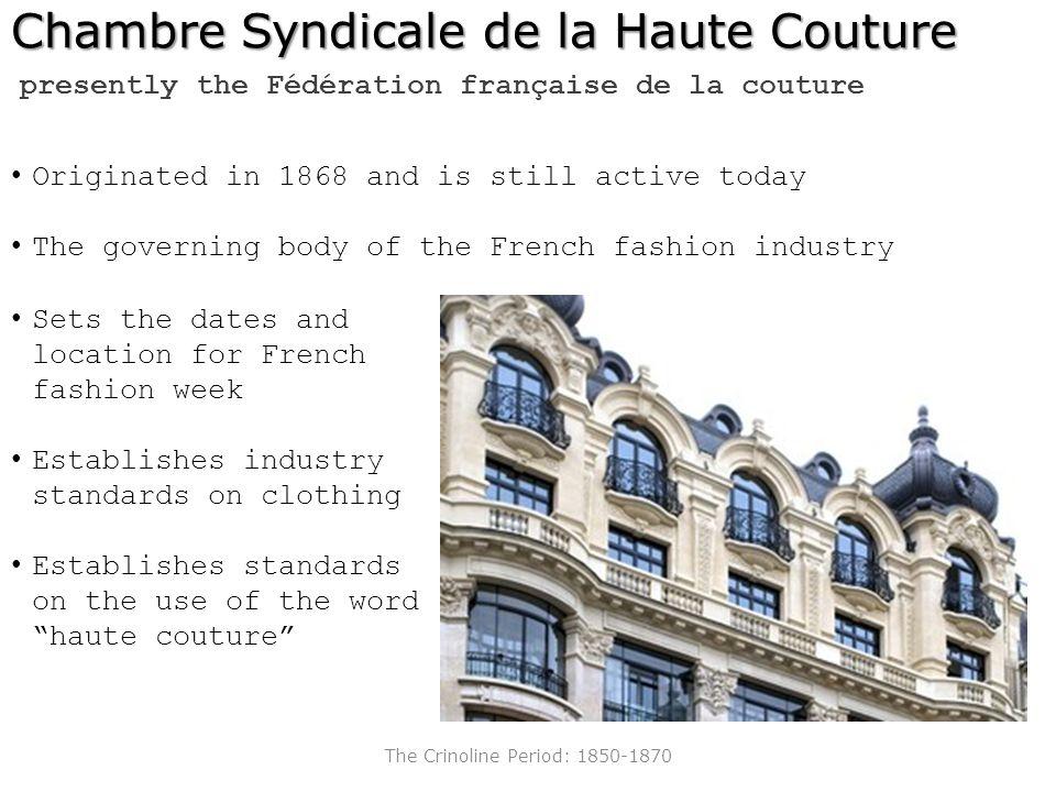 Southern methodist university ppt video online download for Chambre syndicale de la haute couture