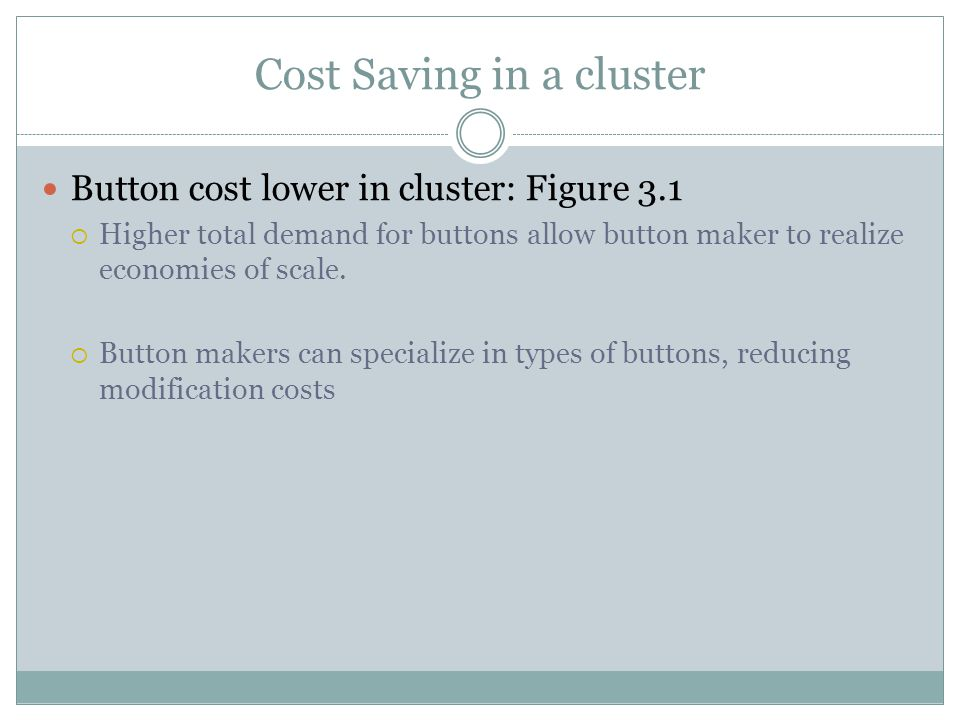 Cost Saving in a cluster