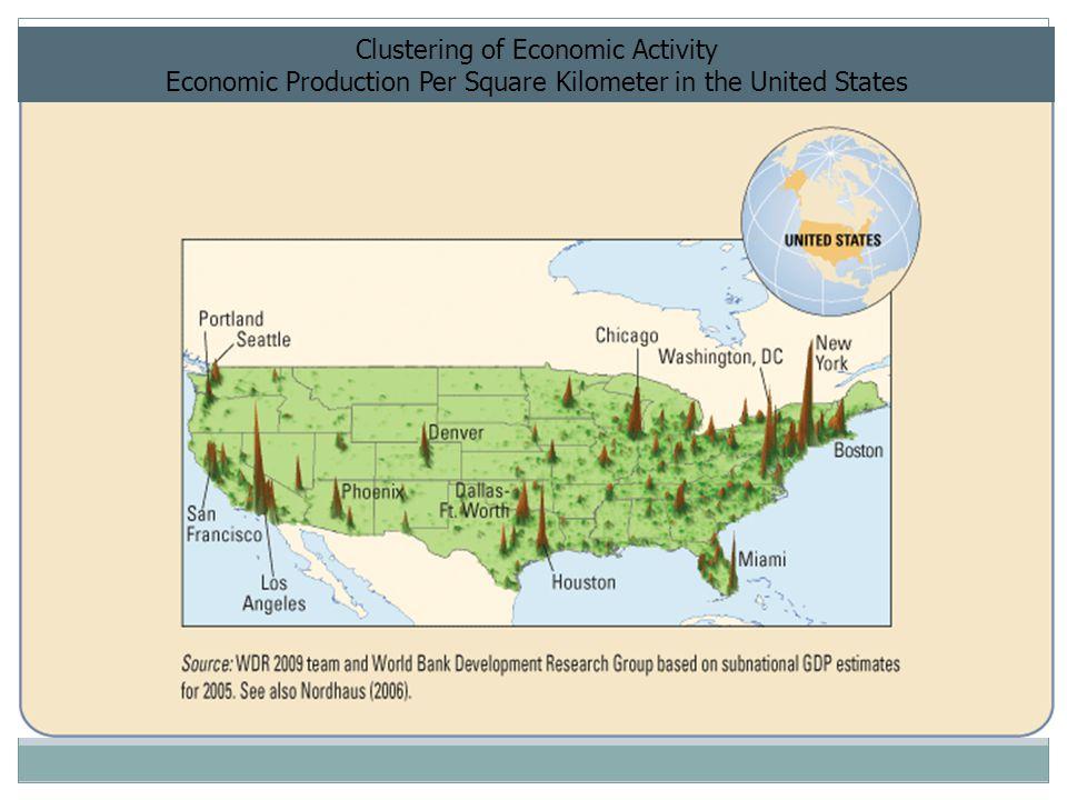 Clustering of Economic Activity