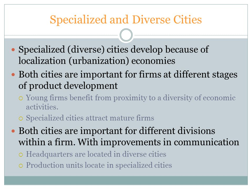 Specialized and Diverse Cities