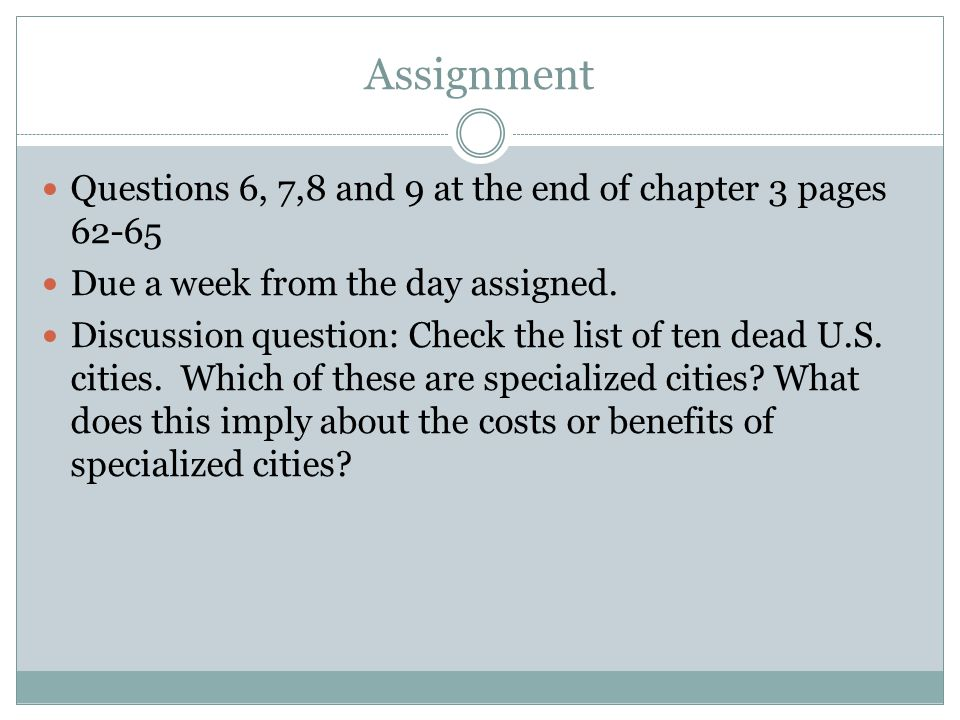 Assignment Questions 6, 7,8 and 9 at the end of chapter 3 pages 62-65