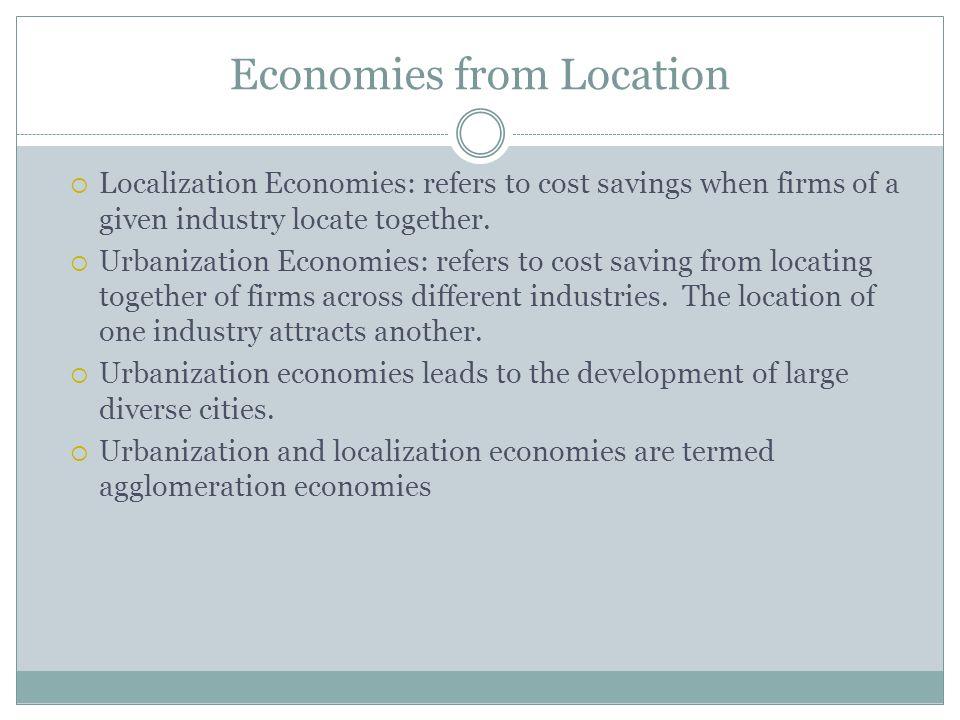 Economies from Location