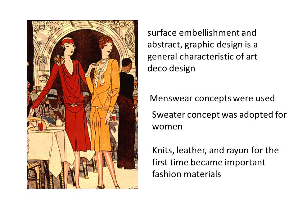 surface embellishment and abstract, graphic design is a general characteristic of art deco design