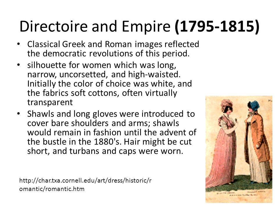 Directoire and Empire (1795-1815)