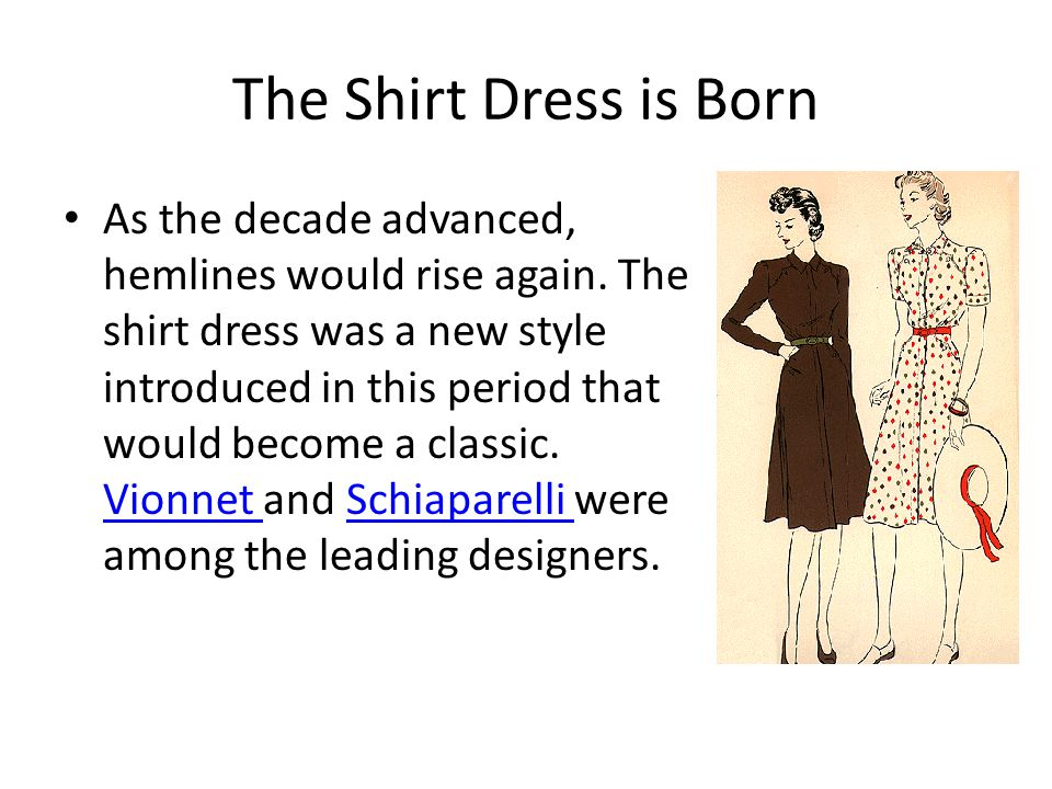 The Shirt Dress is Born