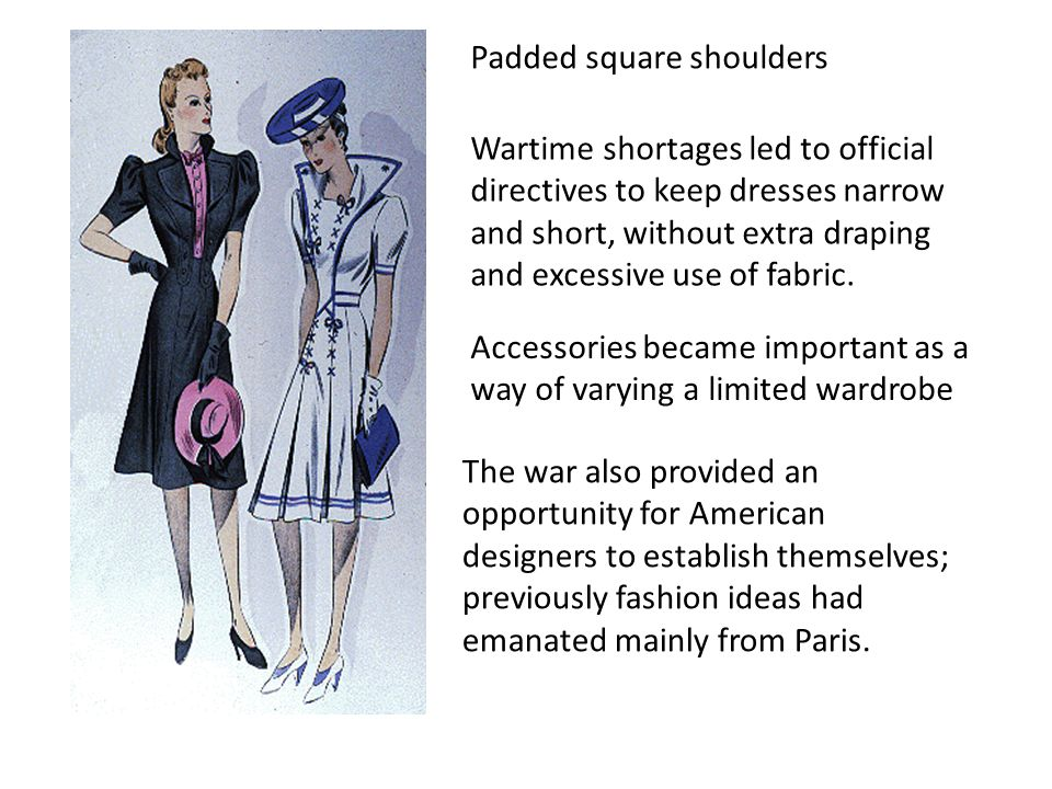 Padded square shoulders