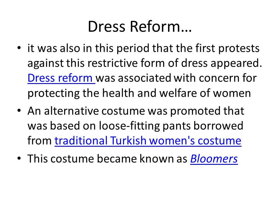 Dress Reform…