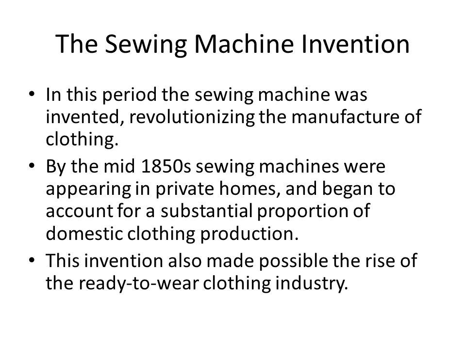 The Sewing Machine Invention