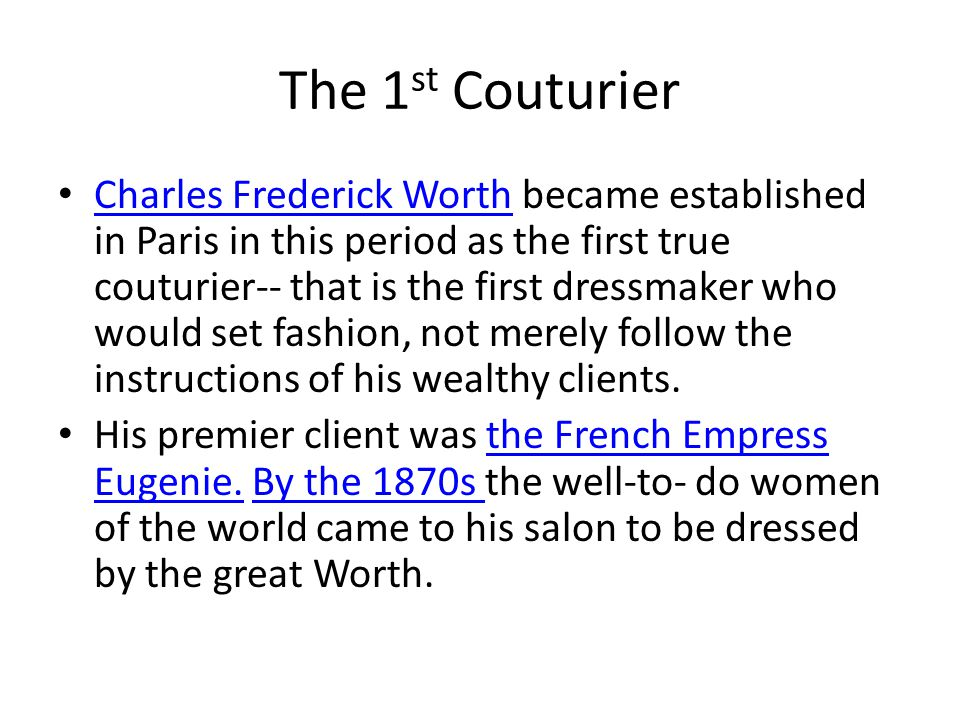 The 1st Couturier