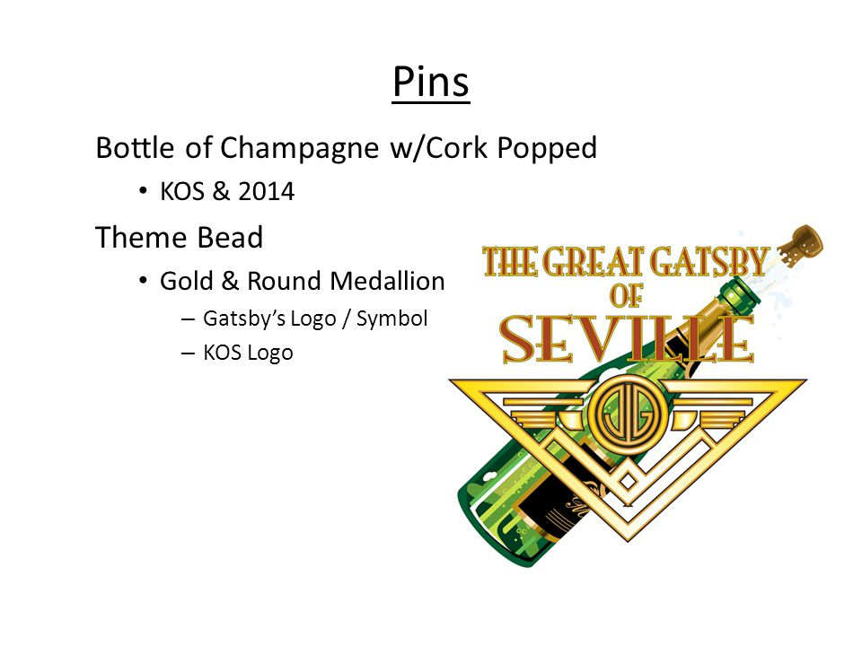 Pins Bottle of Champagne w/Cork Popped Theme Bead KOS & 2014