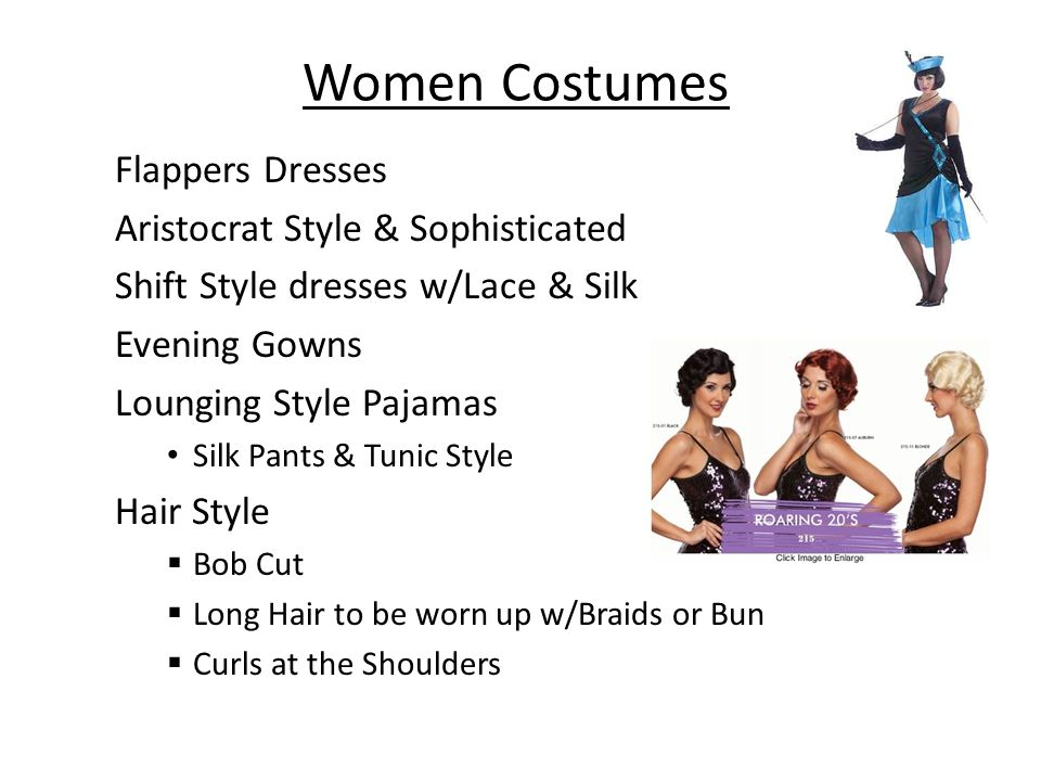 Women Costumes Flappers Dresses Aristocrat Style & Sophisticated