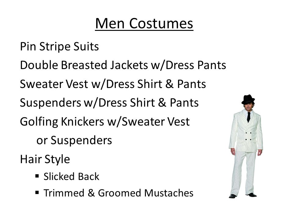 Men Costumes Pin Stripe Suits Double Breasted Jackets w/Dress Pants
